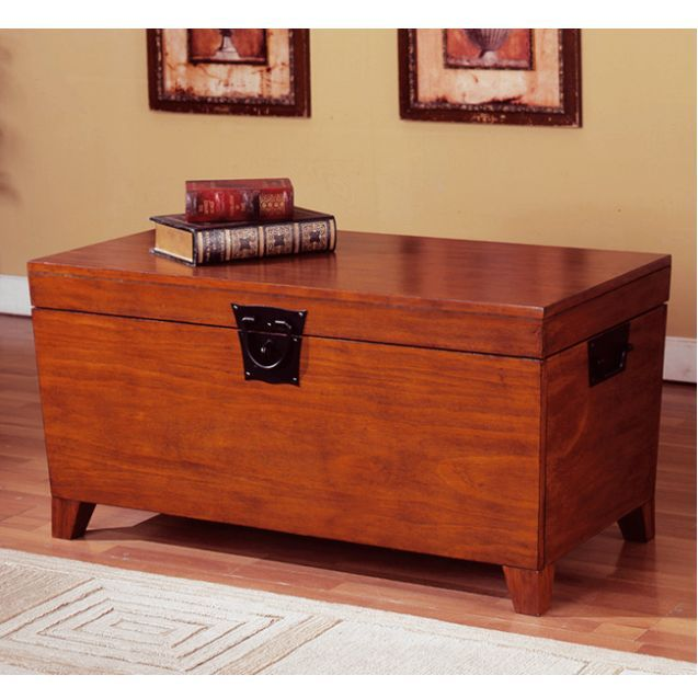 mission craftsman shaker oak trunk coffee table | for the new