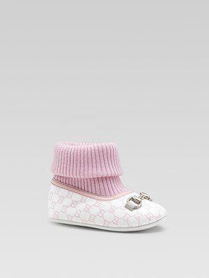 gucci designer baby pink anna lou ballerina booties  ec0c84ac6