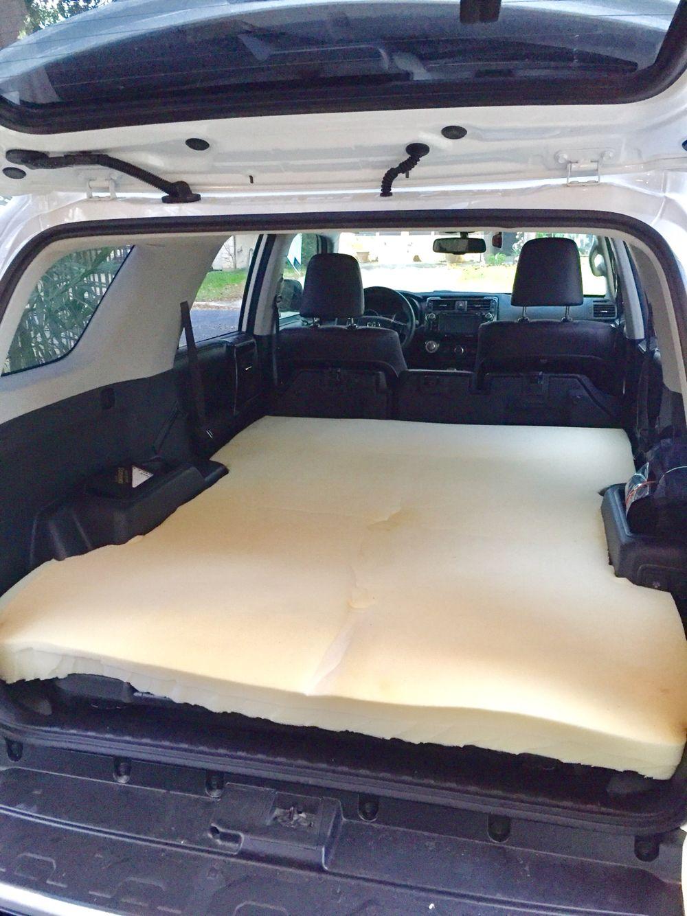 2016 4Runner TRDPro custom camping foam bedding. Suv camping