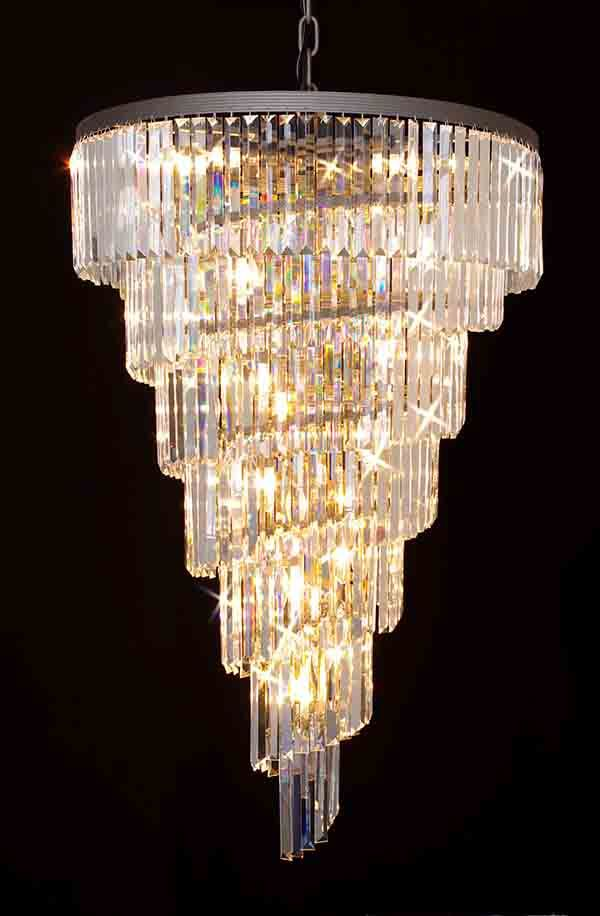 A7 1100 28 Gallery Chandeliers Retro Odeon Crystal Glass Fringe 7 Tier Spiral Chandelier Crystal Chandelier Chandelier Lighting Glass Chandelier