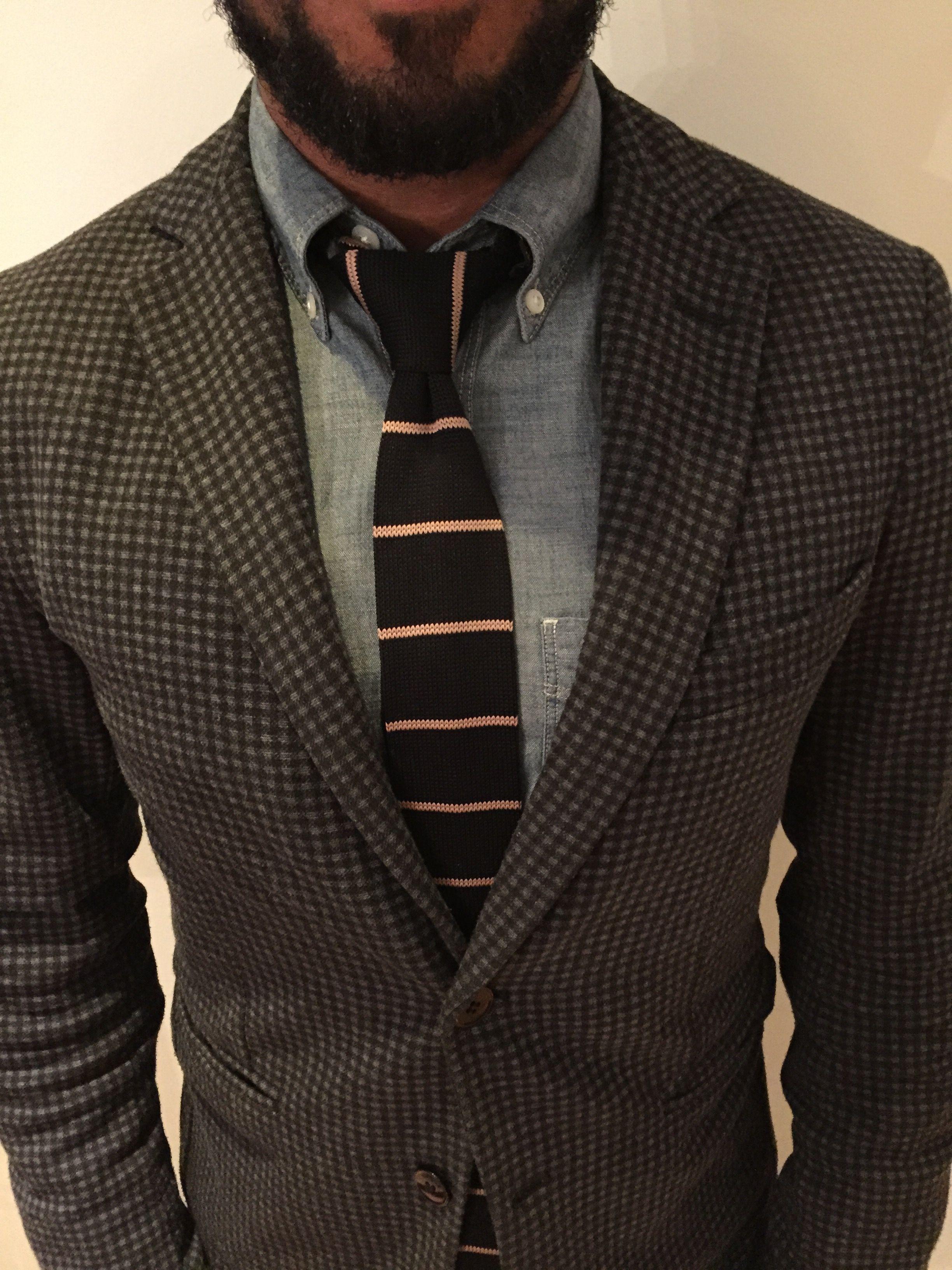 street style men fashion Men's fashion grey check