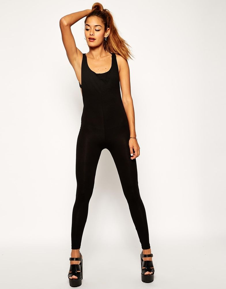 ASOS Bodyfit Jumpsuit With Back Detail at ASOS UK Size:18  EU Size:46 RRP £28.00