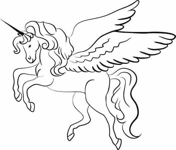 1001 Ideen Fur Ausmalbilder Einhorn Fur Kinder Unicorn Coloring Pages Unicorn Drawing Unicorn Wings