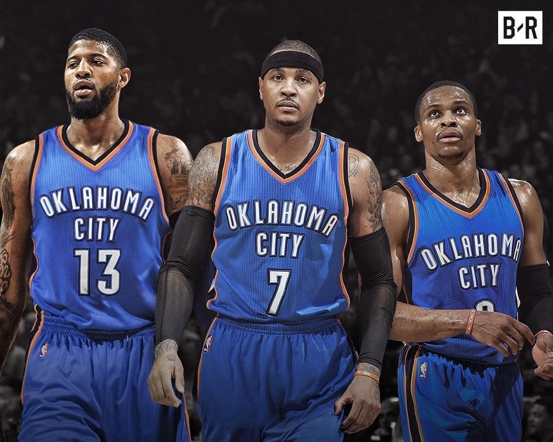 8ca2f3092c3d Paul George Carmelo Anthony Russell Westbrook OKC Oklahoma City Thunder