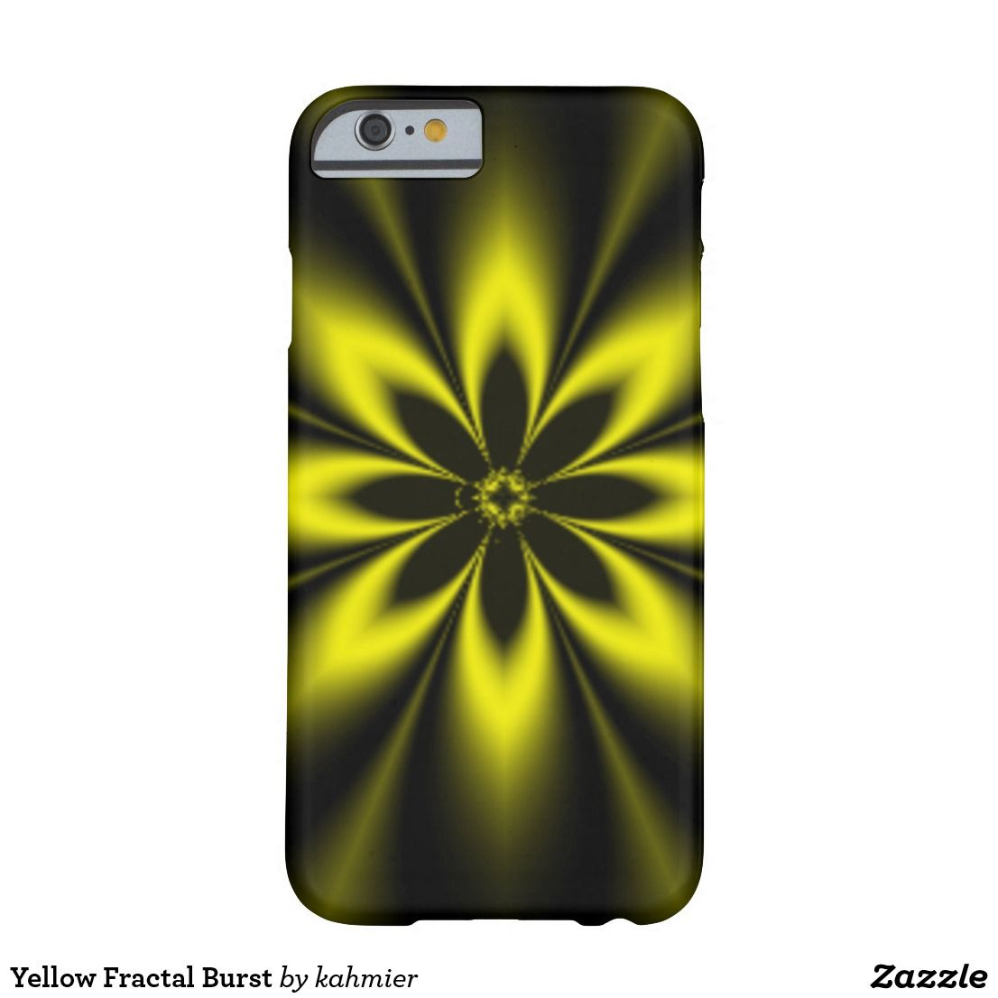 Yellow Fractal Burst Barely There iPhone 6 Case