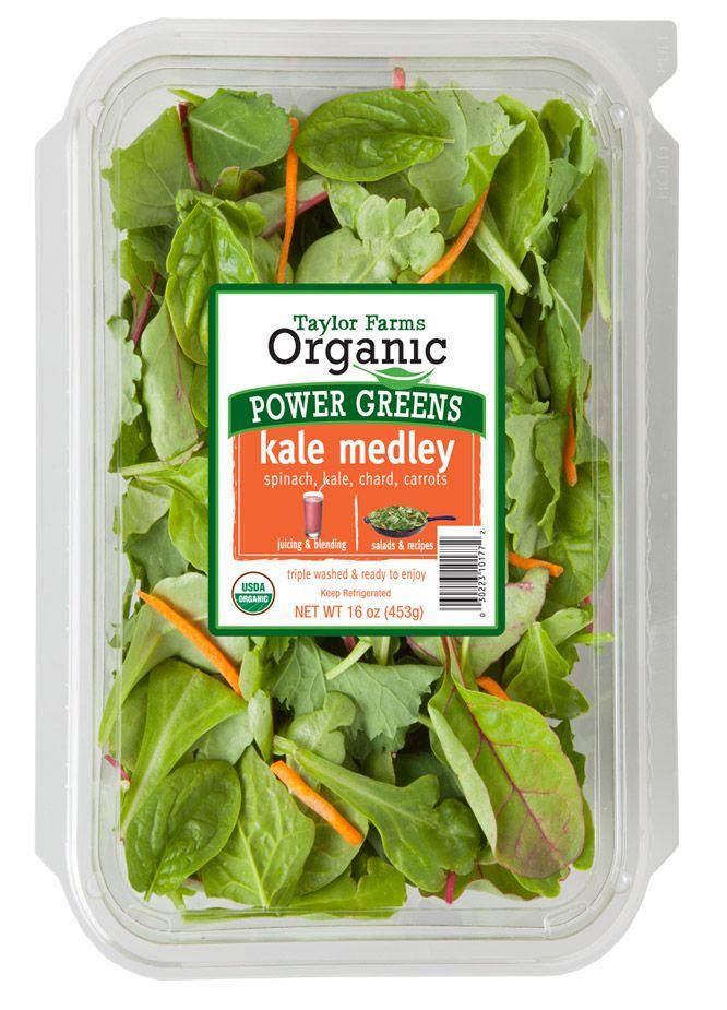 Organic Kale Medley Taylor Farms Vegetable Packaging Salad Packaging Organic Salads