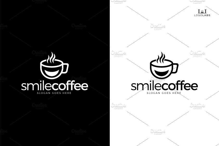 smile coffee logo coffee smile templates logo presentation