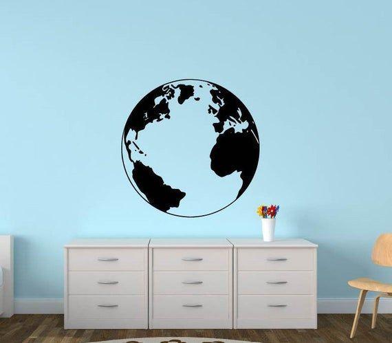 Globe Wall Decal, World Map Mural, Office, Wall Decor, Home decor, Vinyl Wall Decal, Sticker, Wall A #worldmapmural Globe Wall Decal, World Map Mural, Office, Wall Decor, Home decor, Vinyl Wall Decal, Sticker, Wall A #worldmapmural