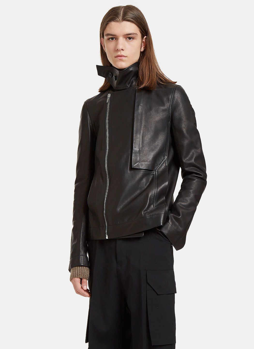 Rick owens men's leather jacket