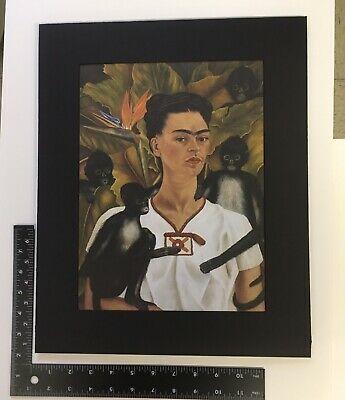 Frida Kahlo Print in Vintage Salvaged Wood Frame, Self