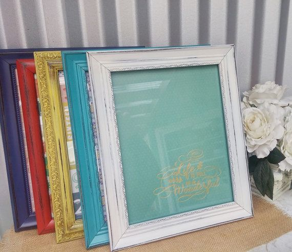 Vintage Soft White SHABBY CHIC/ Rustic Document Frame - ONE 8.5 x 11 ...