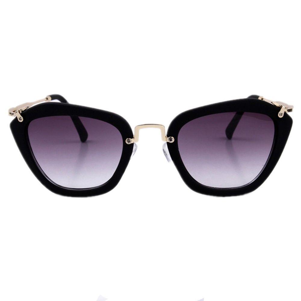 New Vintage Retro Cat Eye Gradient Sunglasses Black