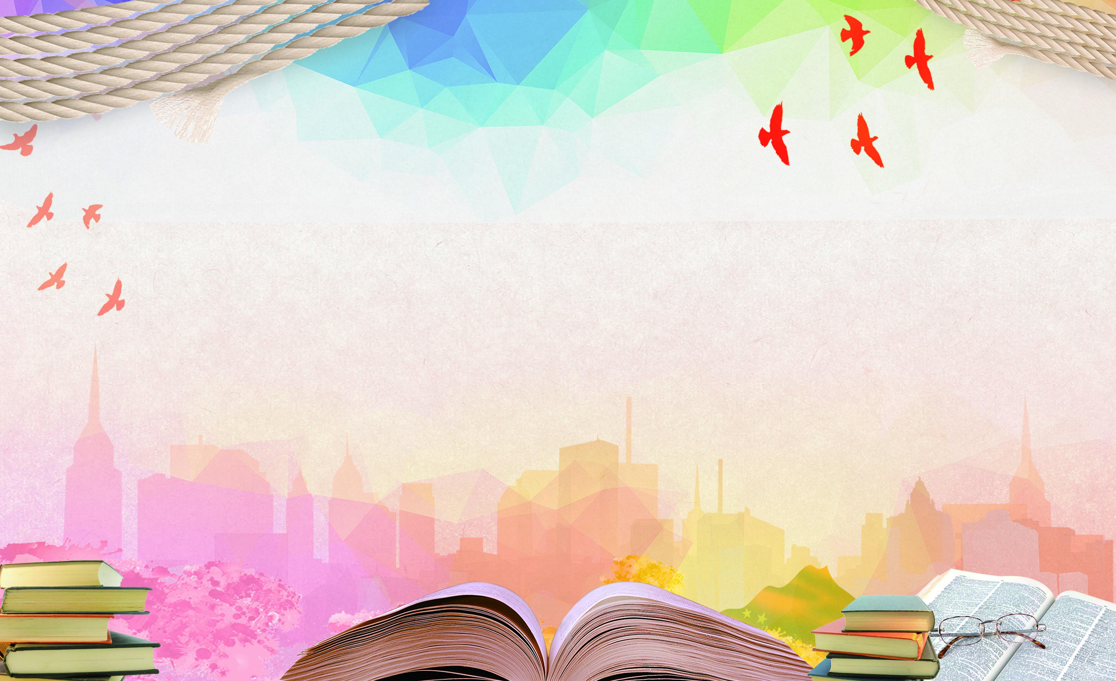 Summer School Reading And Learning Poster Background Ilustrasi Buku Ilustrasi Desain Banner