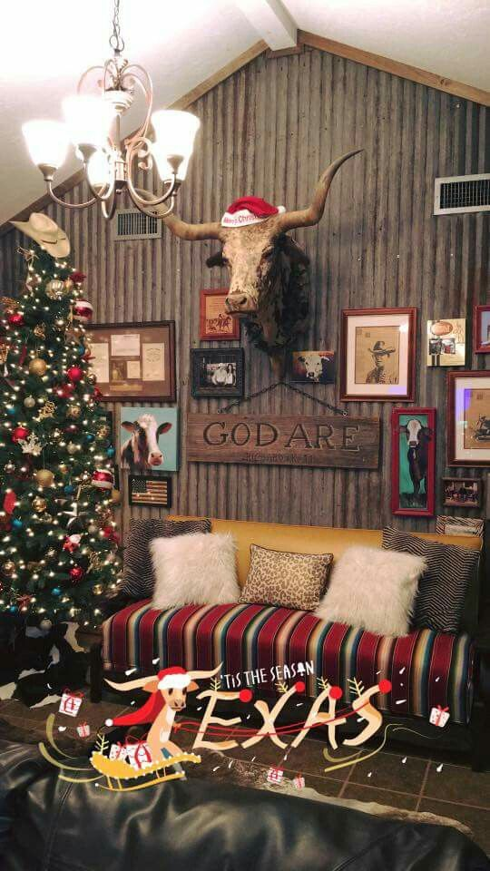 Texas Christmas Western Home Decor Home Living Room