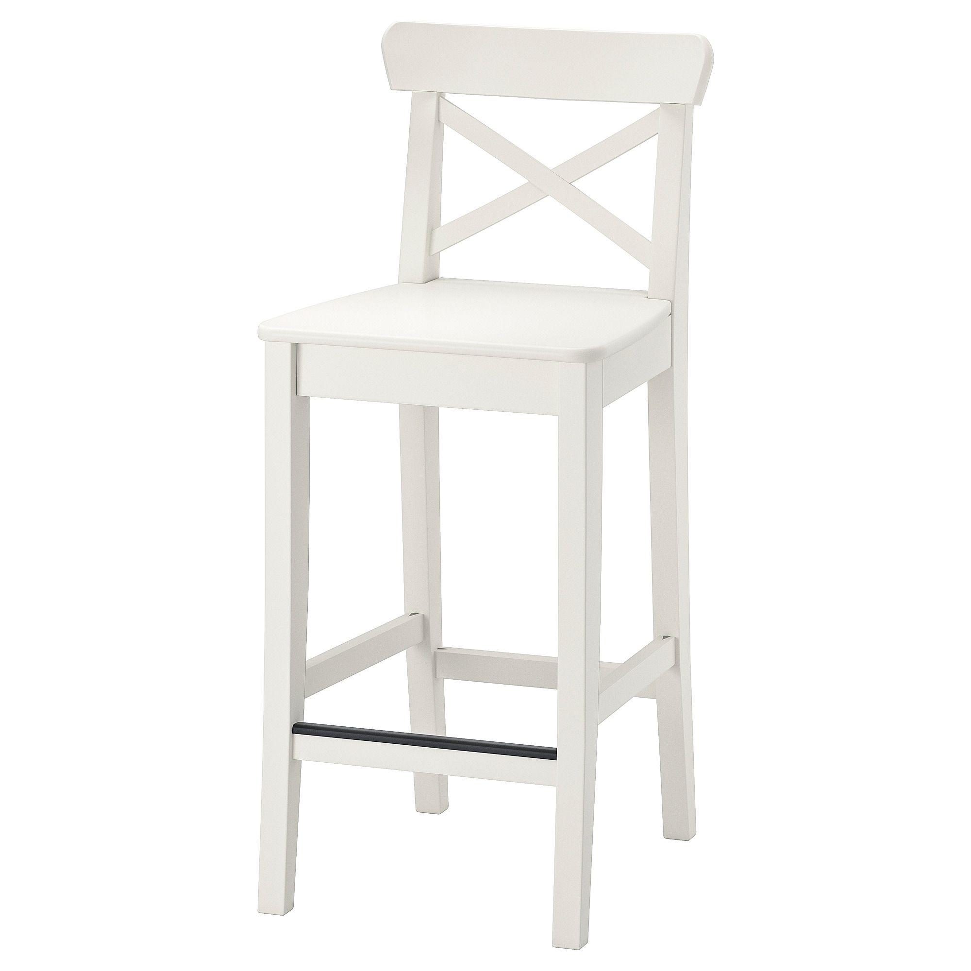 Ikea Ingolf White Bar Stool With Backrest White Bar Stools Ikea Bar Ikea Barstools