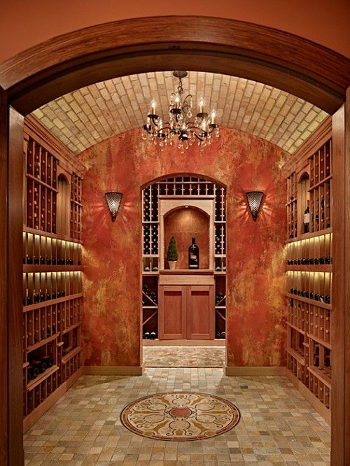 Gorgeous wine cellar! Chandelier is a nice touch! - Iu0027ll use it to store my exotic extra virgin olive oils | Wine cellar | Pinterest | Wine cellars ... & Gorgeous wine cellar! Chandelier is a nice touch! - Iu0027ll use it to ...