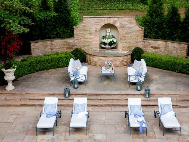 The loggia terrace and gardens was designed and executed ...
