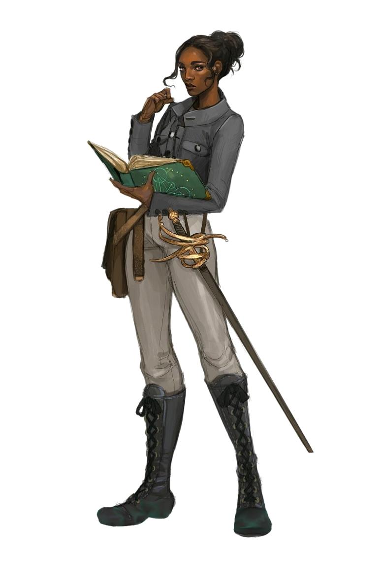 Fantasy Female Human Scholar Art