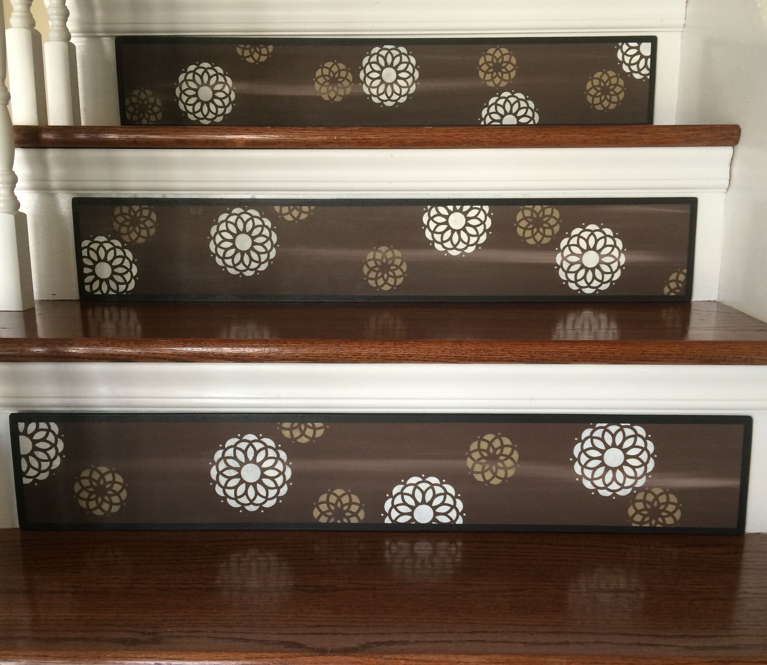 Stair Ideas Warm Fall Colors Alternative to Vinyl Decals Visit
