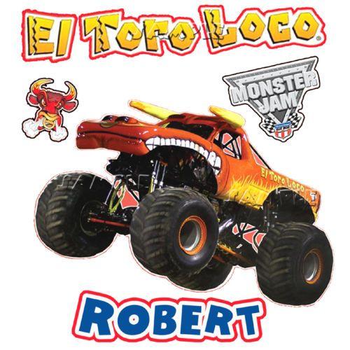 New Toro Loco Monster Truck T Shirt Personalized Birthday Tee Present Gift Monster Trucks Birthday Tee Personalized Birthday