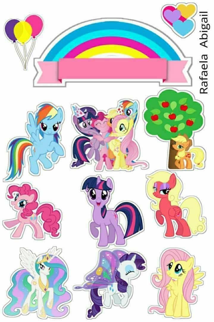 Dwi Litlle Pony Kuda Poni Gambar Karakter Kartu