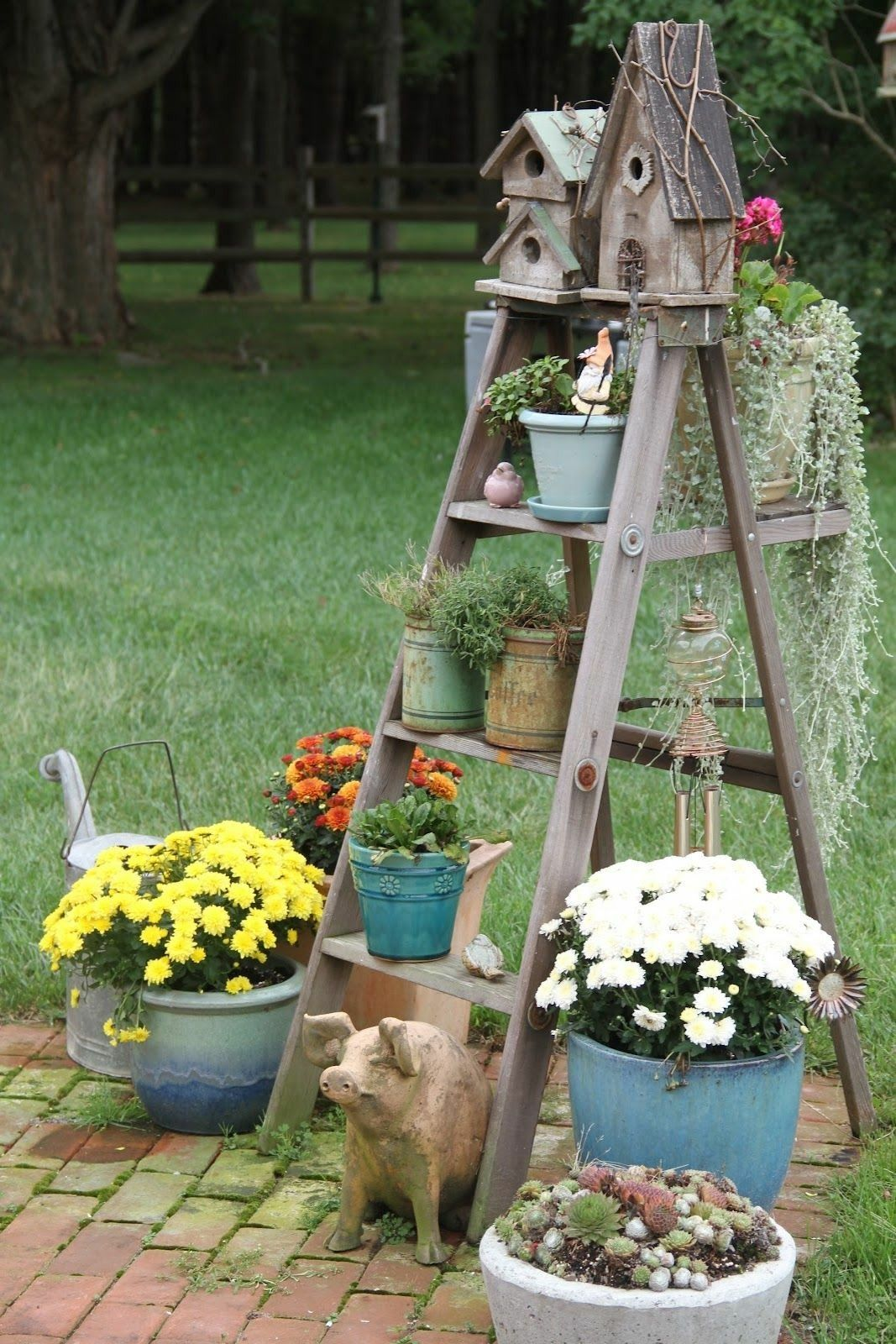 Garden decorating ideas on a budget to make by yourself using old ...