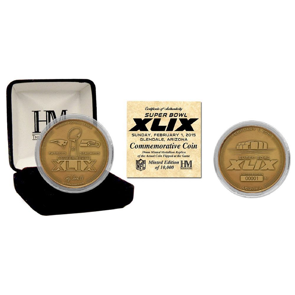 Super Bowl 49 Bronze Flip Coin