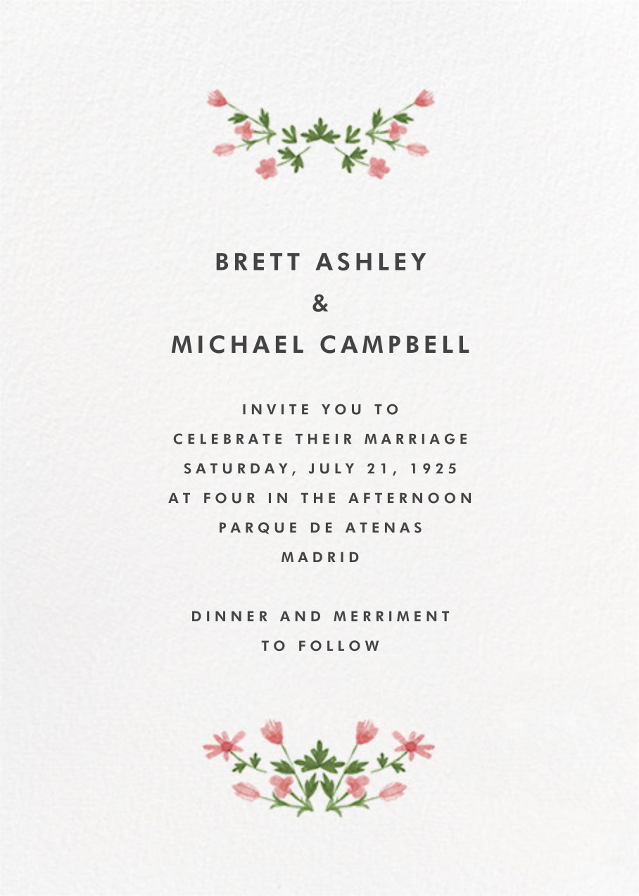Floral Border (Tall) - online at Paperless Post | invites ...