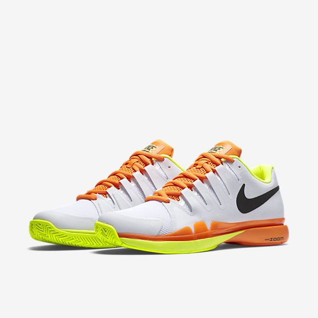 Nike Zoom Vapor 9 5 Tour Mens Tennis Shoes White Volt Total Orange 631458 107 Nike Tennis