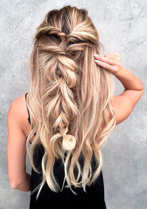 43 Peinados Para Damas De Honor E Invitadas De La Boda El Blog De Una Novia Peinados Cabello Y Belleza Peinados Boda Pelo Largo