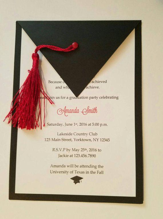 invitaciones de la graduacin conjunto de 10