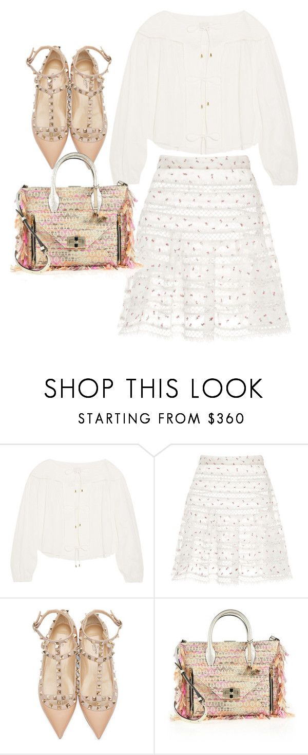 """""""Untitled #3396"""" by bubbles-wardrobe ❤ liked on Polyvore featuring Zimmermann, Valentino and Diane Von Furstenberg"""
