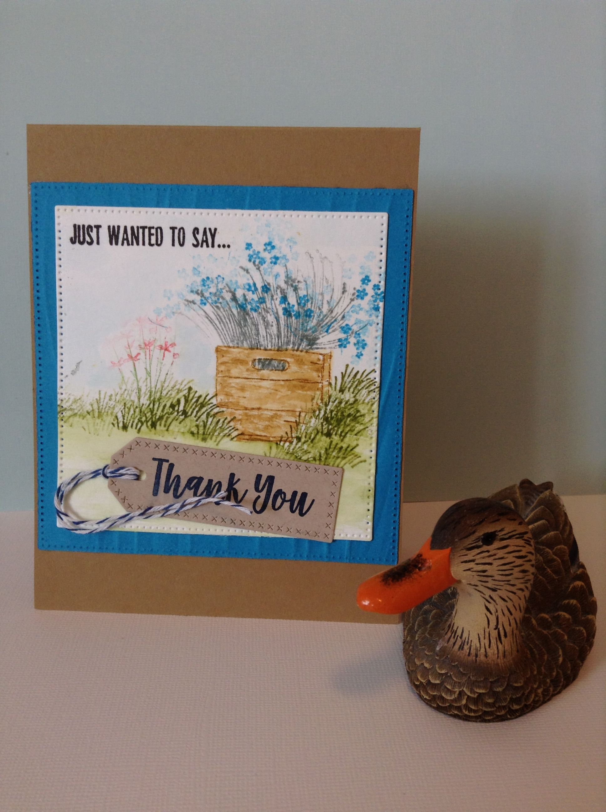Thank You card by Melodie Art Impressions image stamps, My Favorite a Things sentiment.