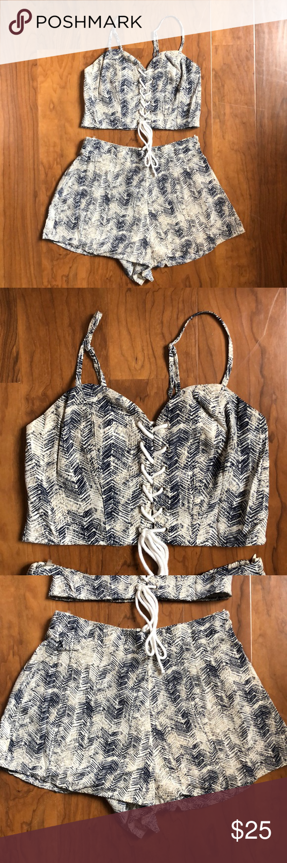 forever 21  s  laceup two piece set  fashion clothes