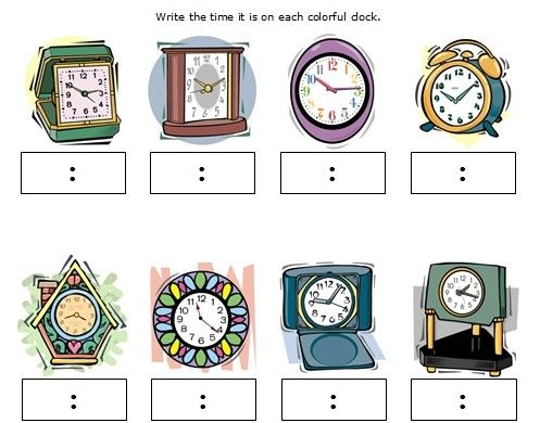 Clock, Kid and Worksheets for kids on Pinterest