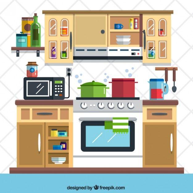 Ilustra o cozinha plana minilivros pinterest for Cocinas armables