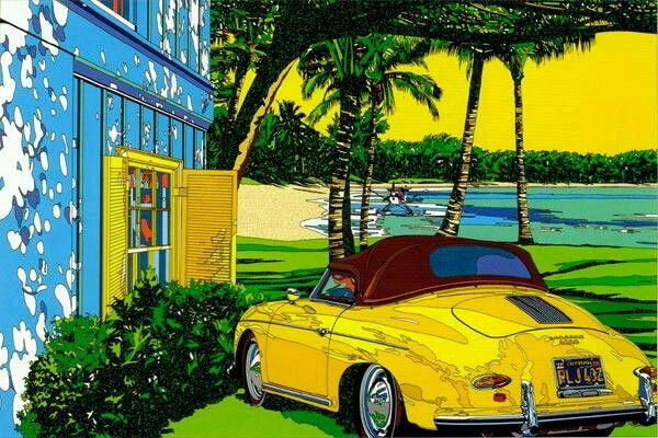 鈴木英人 車の絵がかっこいいんだよな   鈴木英人, イラスト, 絵画