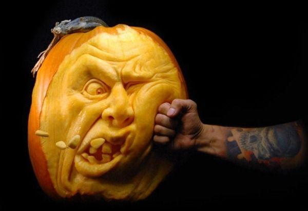 Halloween pumpkin carving art impact