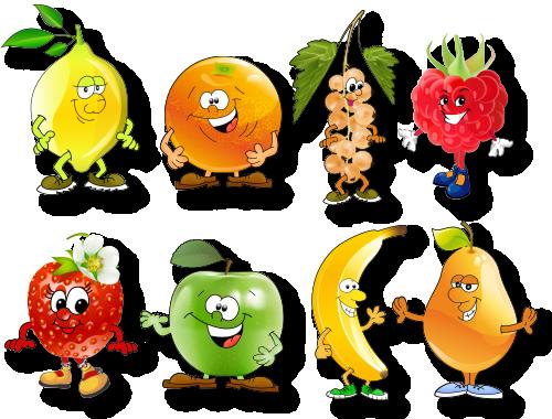 Веселые фрукты и овощи картинки, всем приветик прикольные