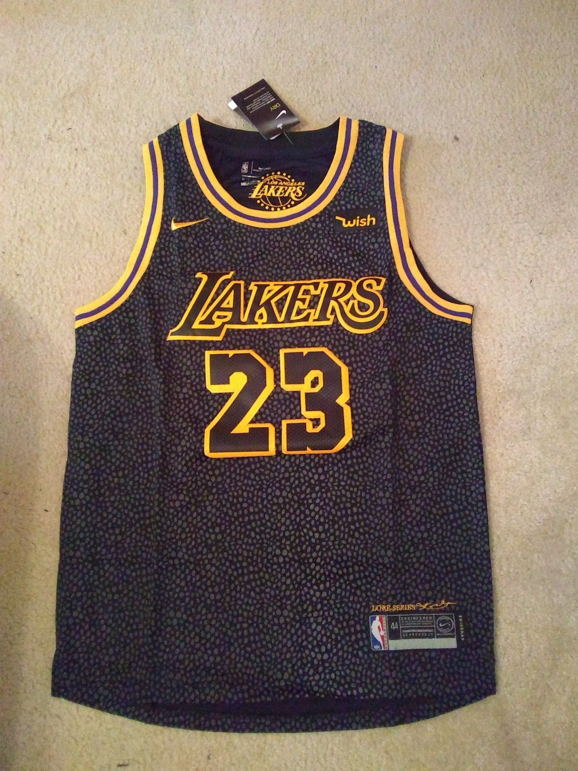 buy popular 68fb2 58d40 LeBron+James+Black+Los+Angeles+LA+Lakers+Lore+Series+NBA+ ...