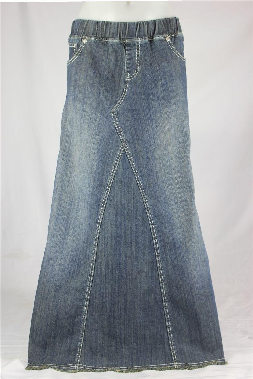 bd7d8c32a4 Pearly Vintage Denim Skirt