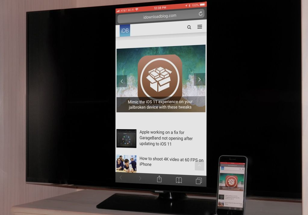 Samsung Smart Tv, Is There A Way To Mirror Iphone Tv Without Wifi