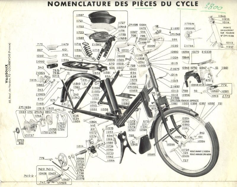 Plans Eclates Guide De Reglage Et Pubs Du Solex 3800