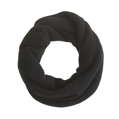 "jcrew cashmere snood - 15 1/2""l x 15""w. provisional caston, join in round, knit to length, twist, join with kitchener."