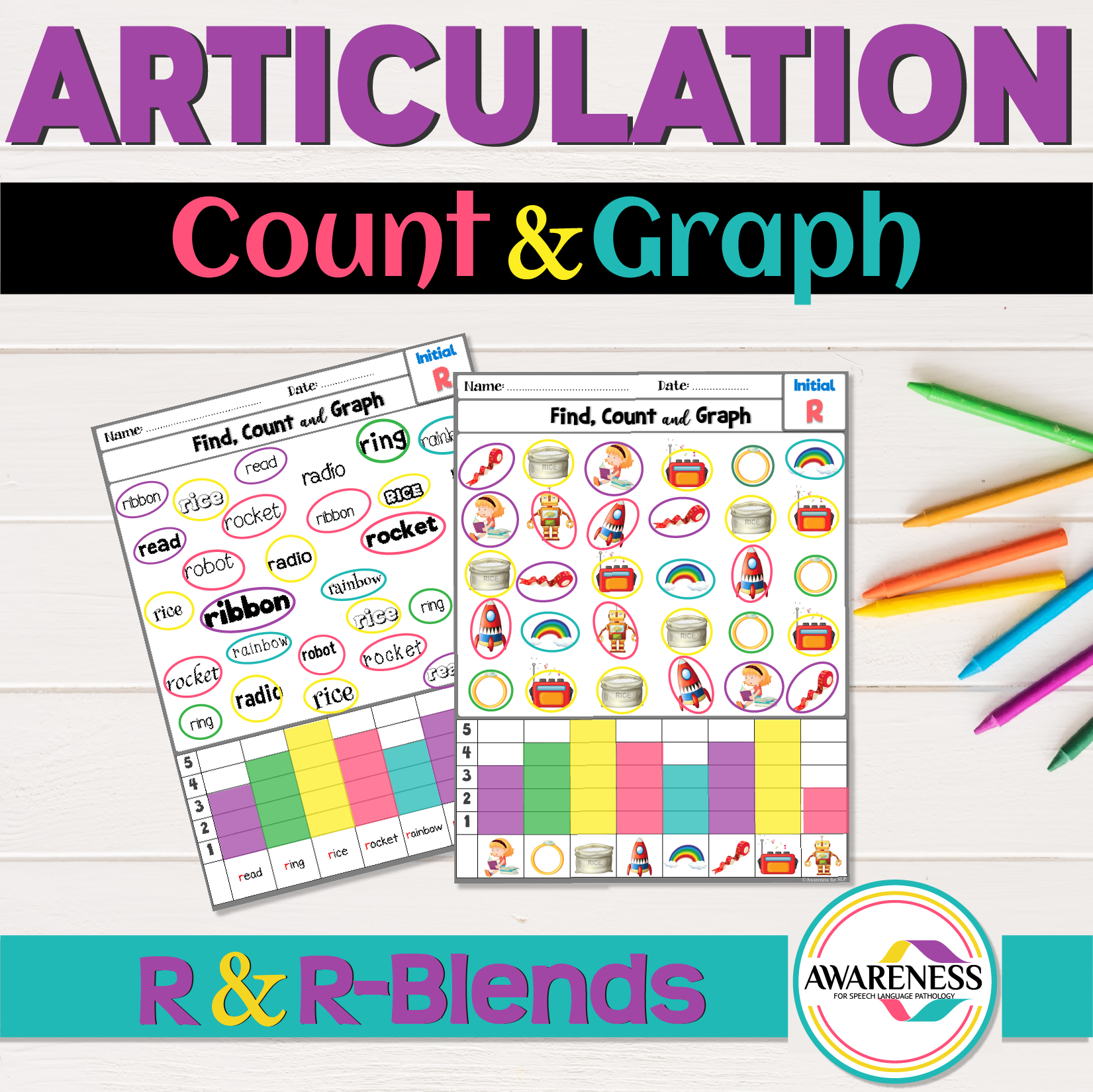 R Articulation Activities R Amp R Blends Count Amp Graph No