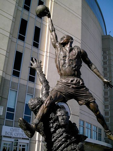 Michael Jordan Statue. Saw this on New Years... So amazing!