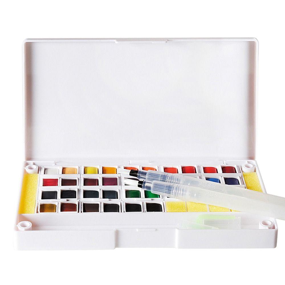 12 24 36 Farben Pigment Solide Aquarellfarben Set Farbige