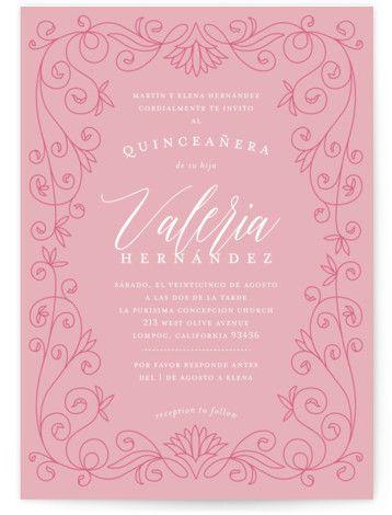 In The Garden Quinceanera Invitations