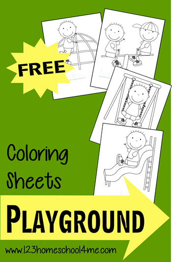 FREE Playground Coloring Sheets for Kids | Playground ...