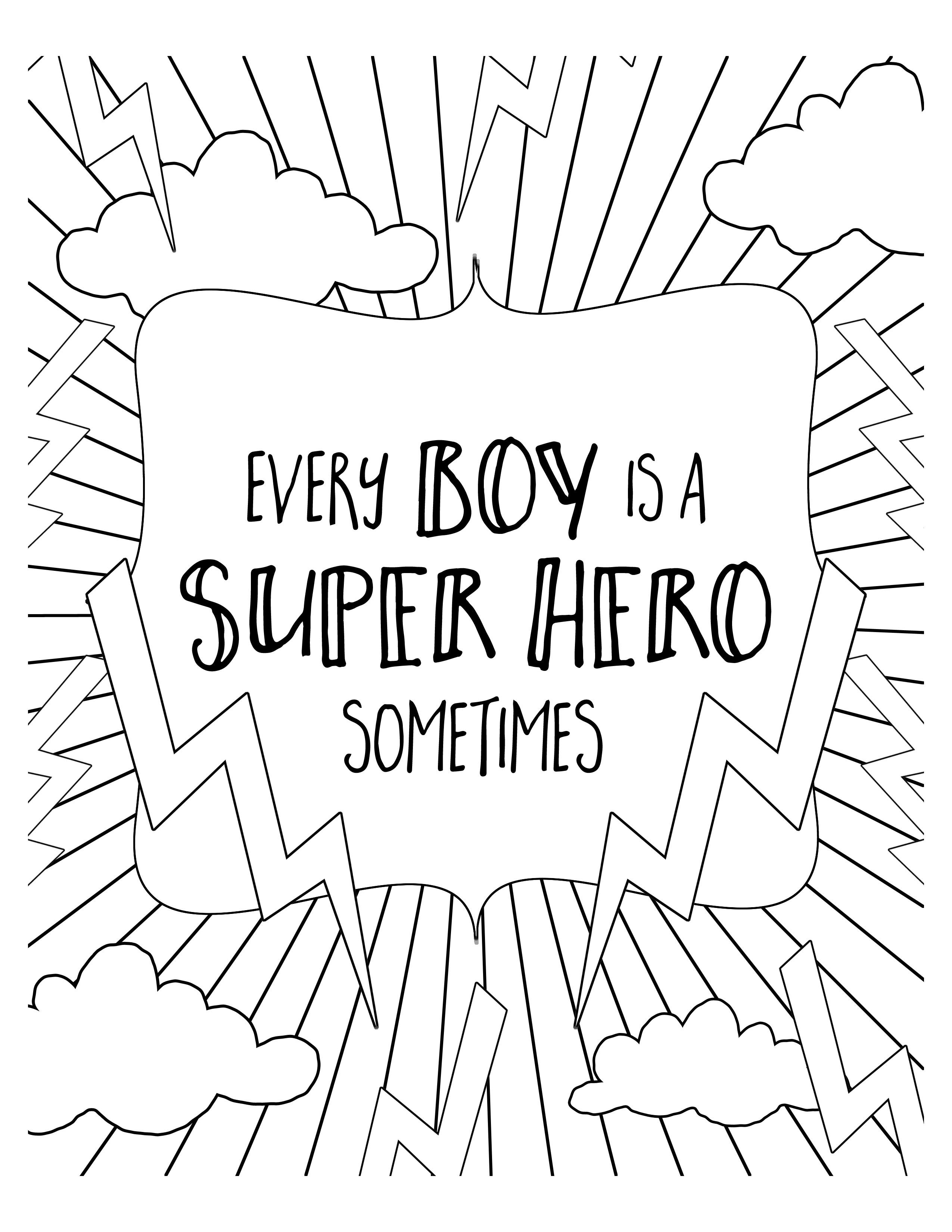 Free Super Hero Coloring Pages Let S Diy It All With Kritsyn Merkley Superhero Coloring Pages New Year Coloring Pages Coloring Pages For Boys